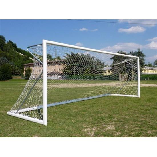 futbalové bránky Pesmenpol 5x2m - s oválnym hliníkovým profilom, monotvané do puzdier