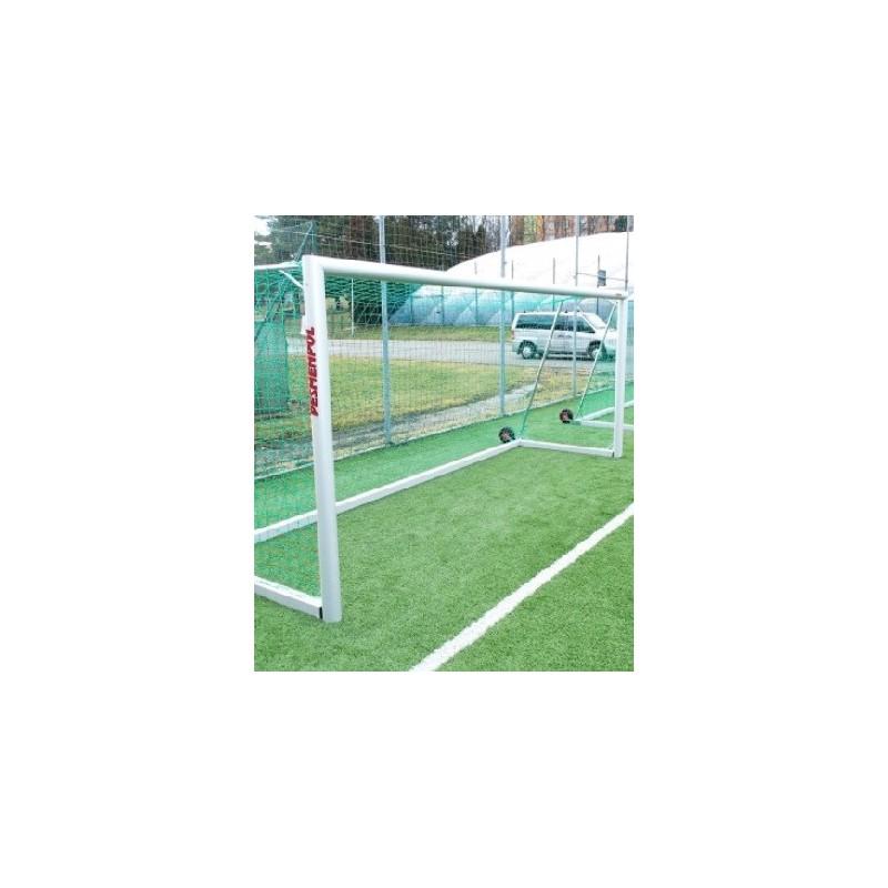 futbalové bránky Pesmenpol 5x2m – s oválnym hliníkovým profilom, prenosné na kolieskach